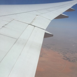 View of Arabian Desert below
