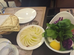 Flat Bread with best Hummus I ever had